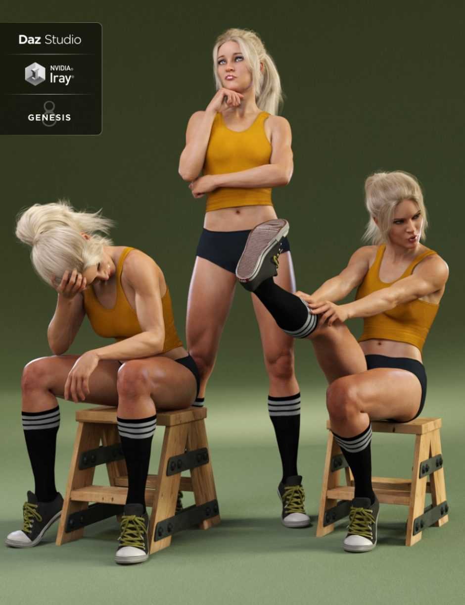 Everyday Poses and Expressions for Genesis 8 Female and Gia 8