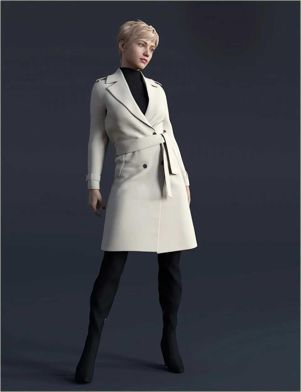 H&C Trench Coat Outfit for Genesis 8 Female(s)