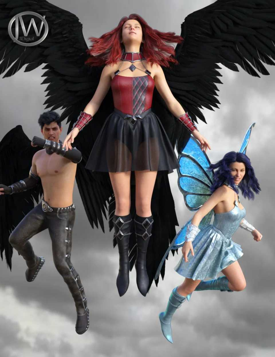 I Can Fly Poses for Genesis 3 & 8