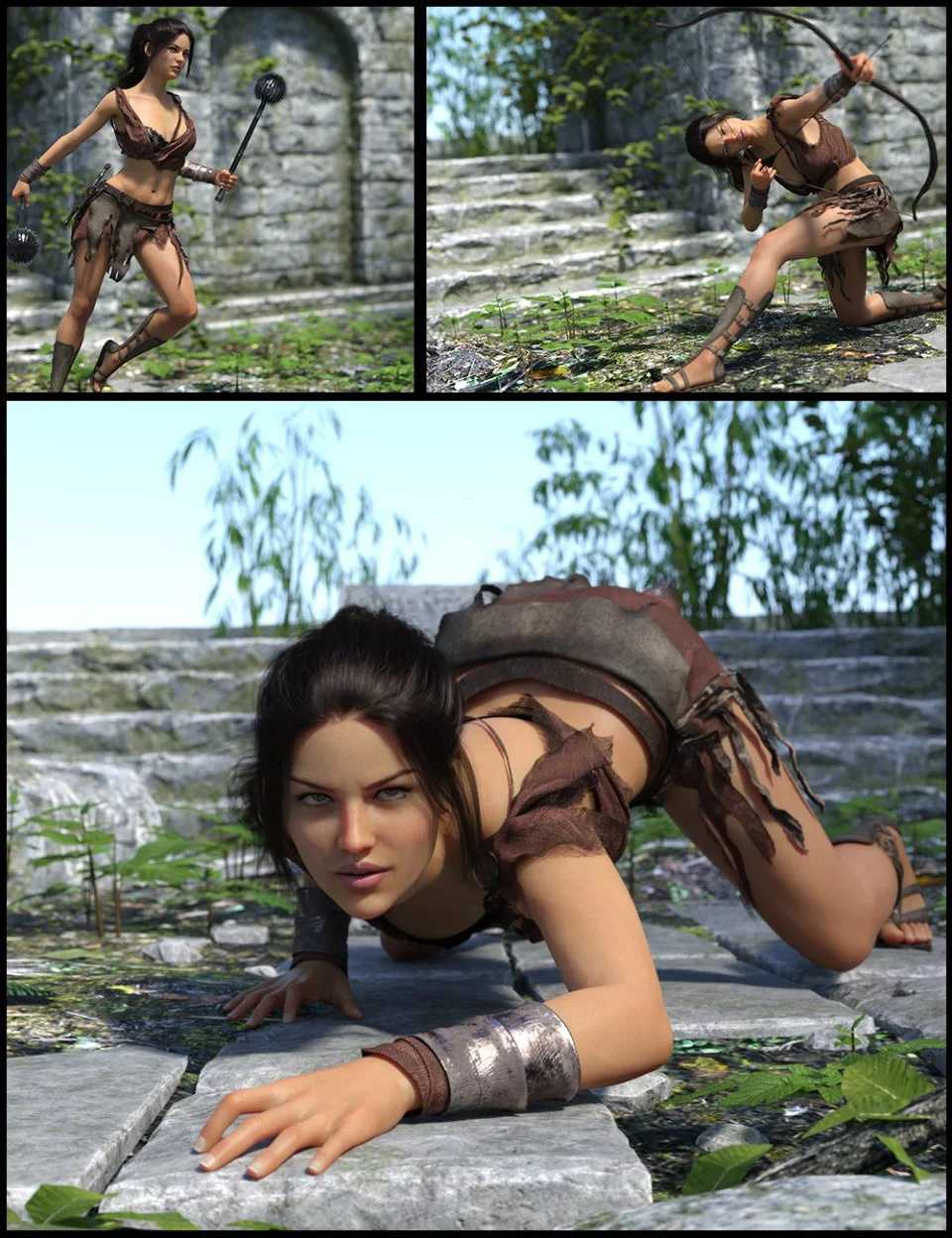 i3D Heroism Poses for Genesis 8 Female(s)