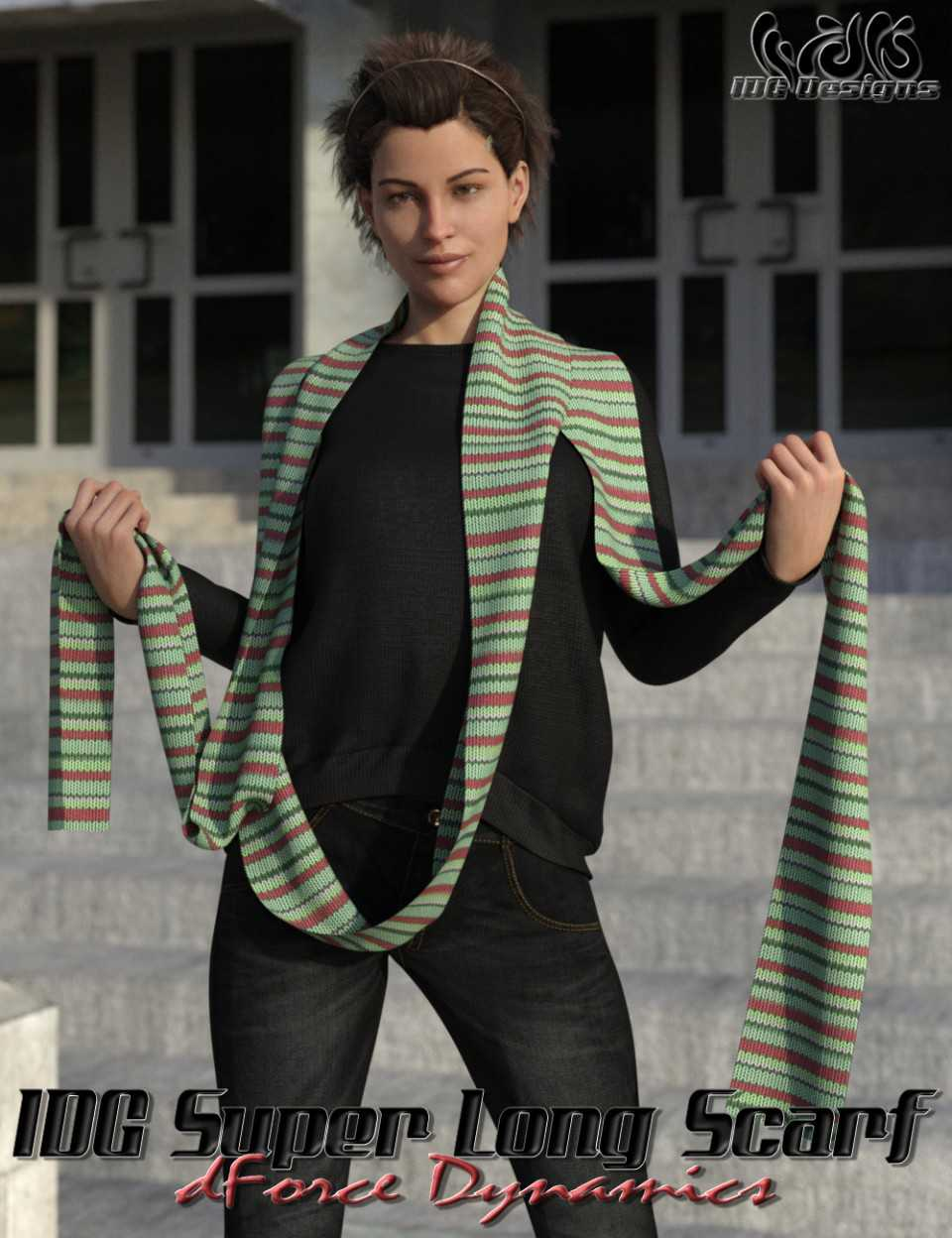 IDG dForce Dynamics Super Long Scarf