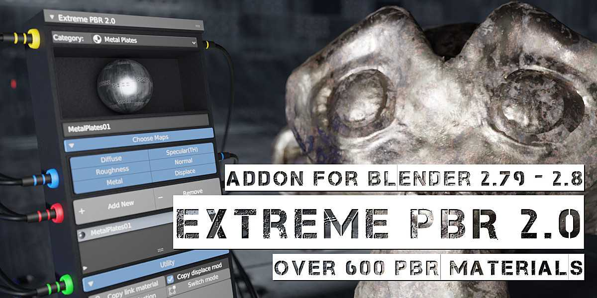Extreme PBR 2.0 addon for Blender 2.8