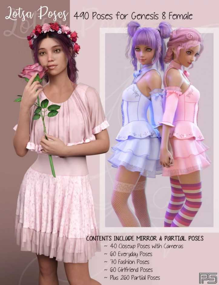 Lotsa Poses for Genesis 8 Female