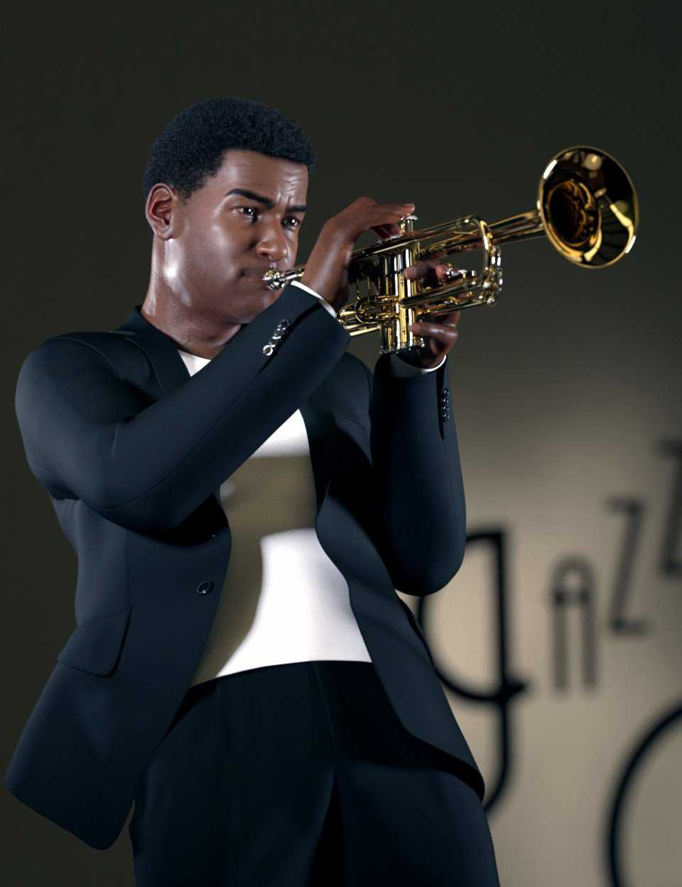 HD Trumpet and Poses for Genesis 8