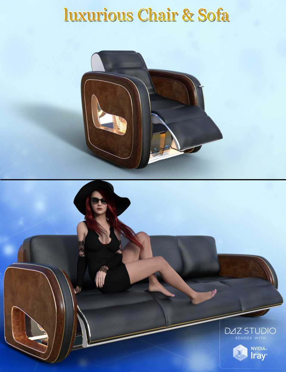 Luxurious Chair and Sofa