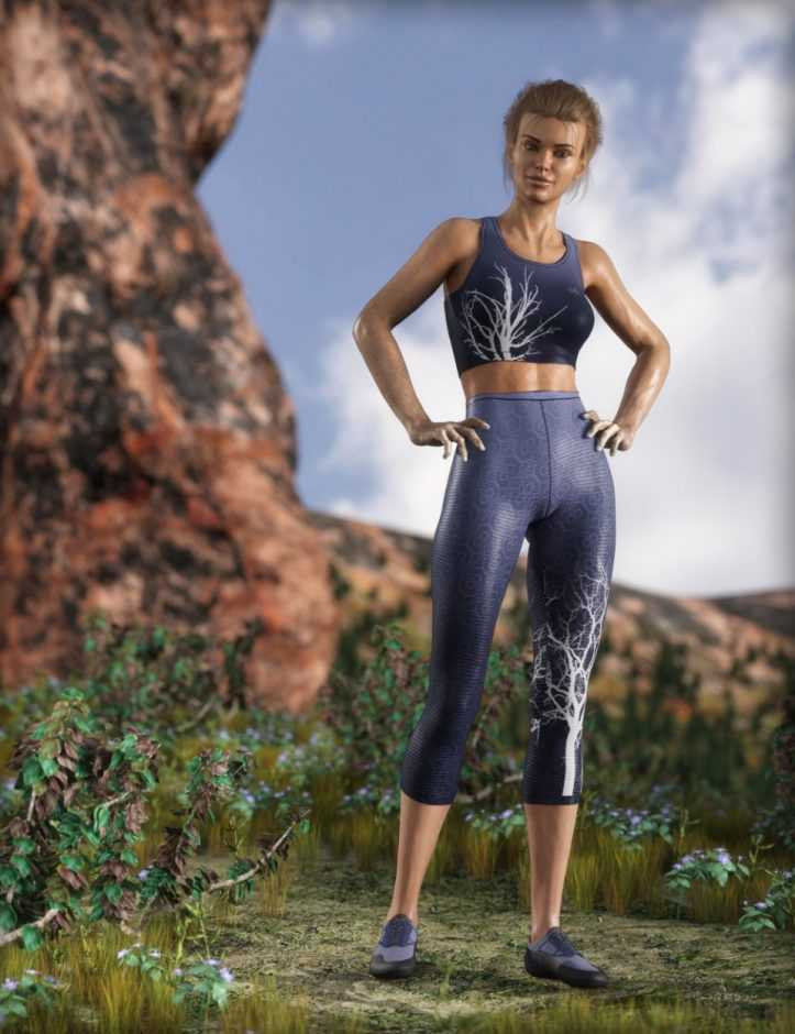 MDCH Climbing and Athletic Outfit for Genesis 3 and 8 Female(s)