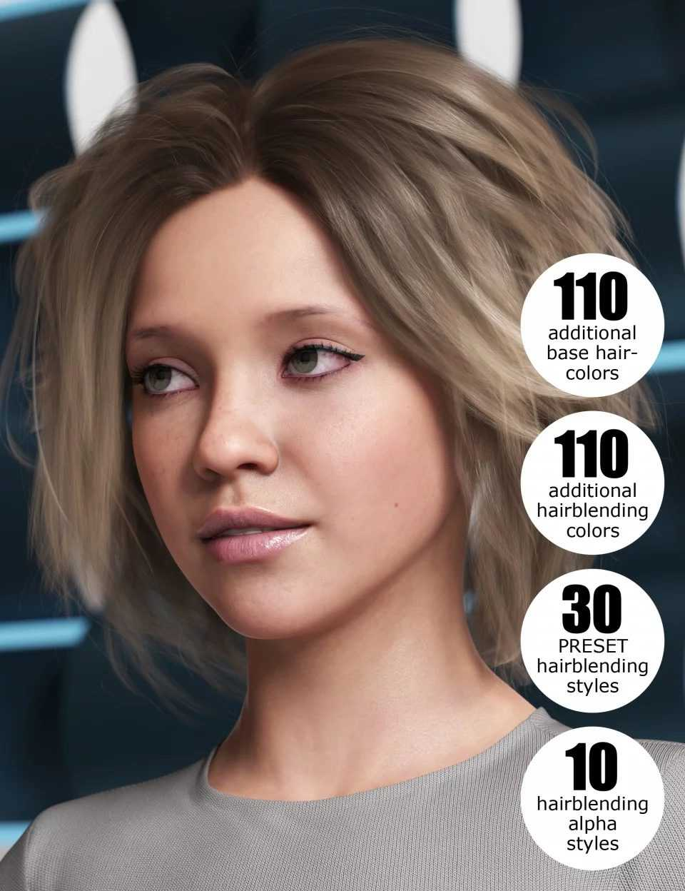 OOT Hairblending 2.0 Texture XPansion for Various Age Bob Hair