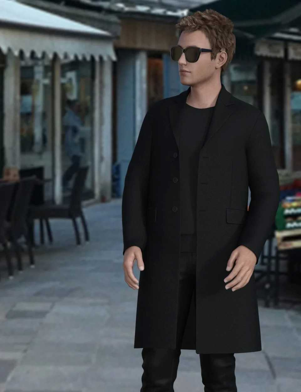 H&C Trench Coat Outfit for Genesis 8 Male(s)