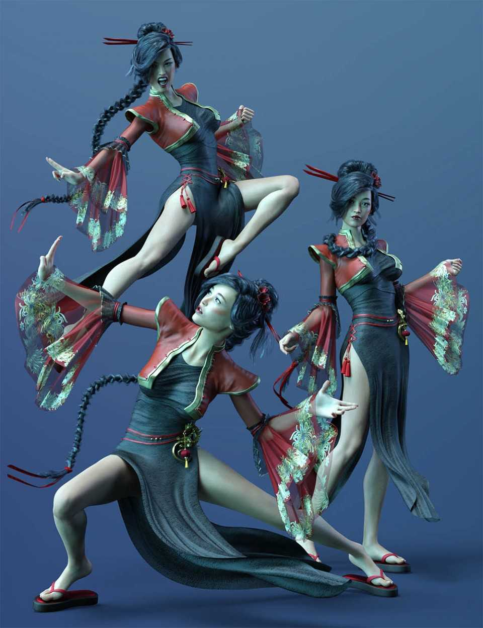 Poses and Expressions for Fan Ling and Genesis 8 Female