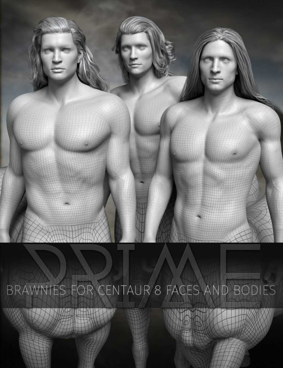 Prime Brawnies for Genesis 8 Male Centaur