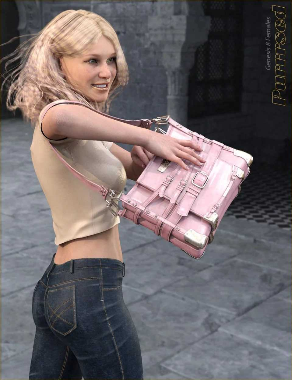 Purrrsed Purse and Poses for Genesis 8 Female(s)