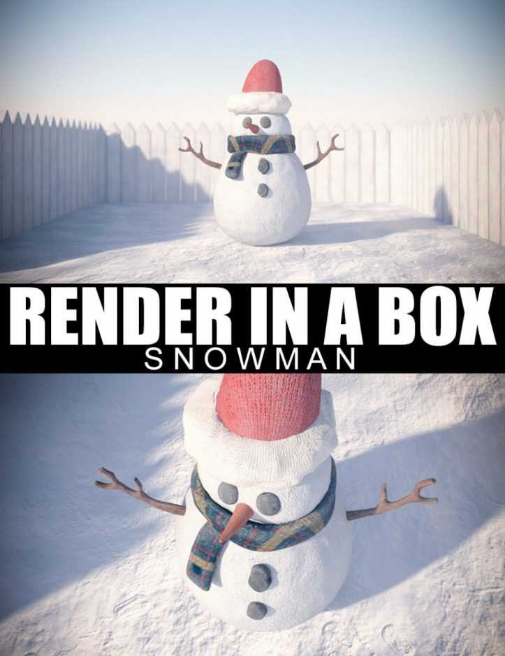 Render In A Box – Snowman