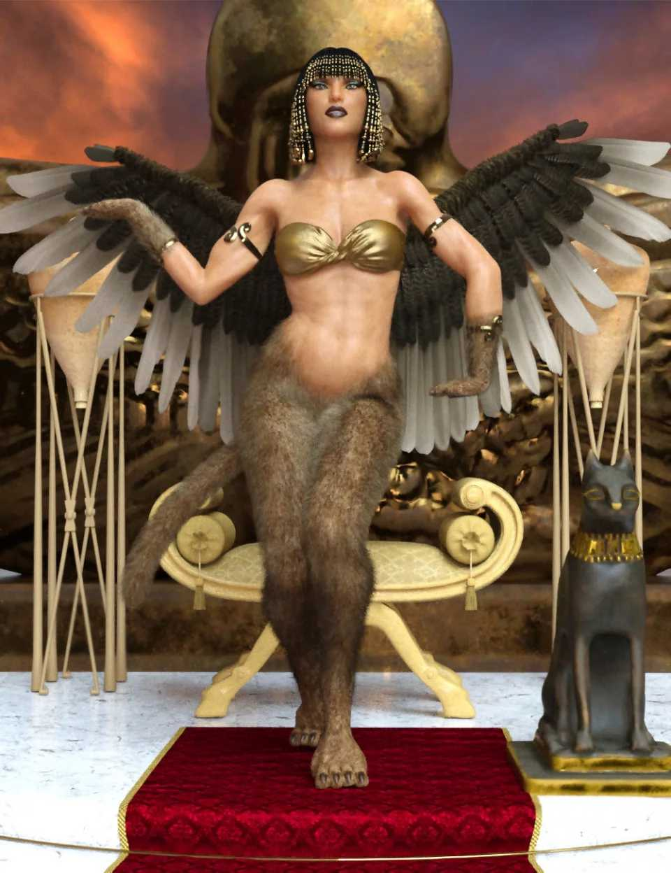 Riddle Poses for Sphinx For Genesis 8 Female