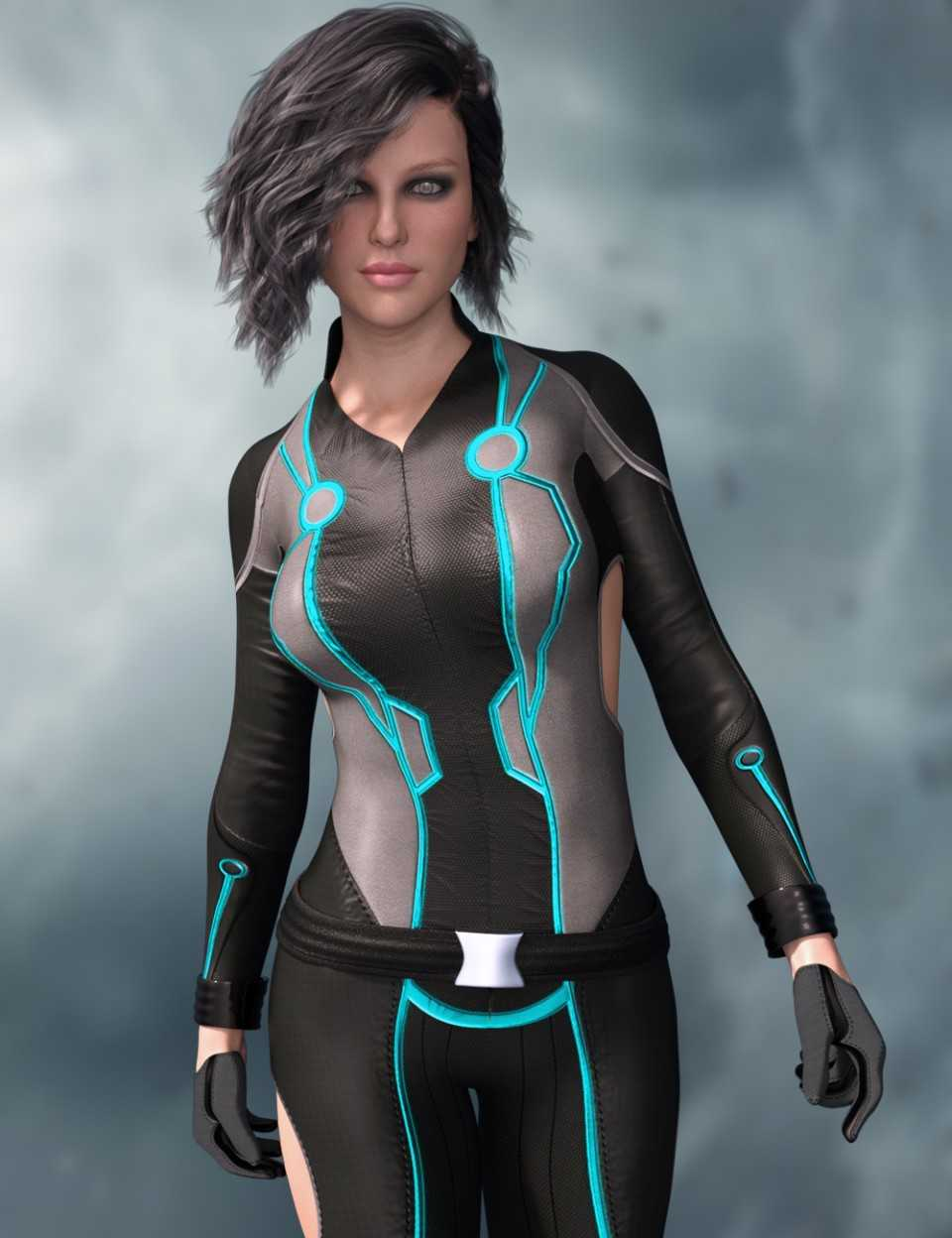 X-Fashion Shadows Outfit for Genesis 8 Female(s)