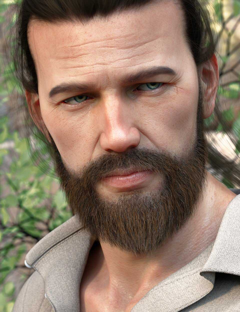 Stranded Whiskers for Genesis 8 Male(s)