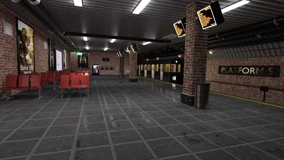 Subway Platform For Iray