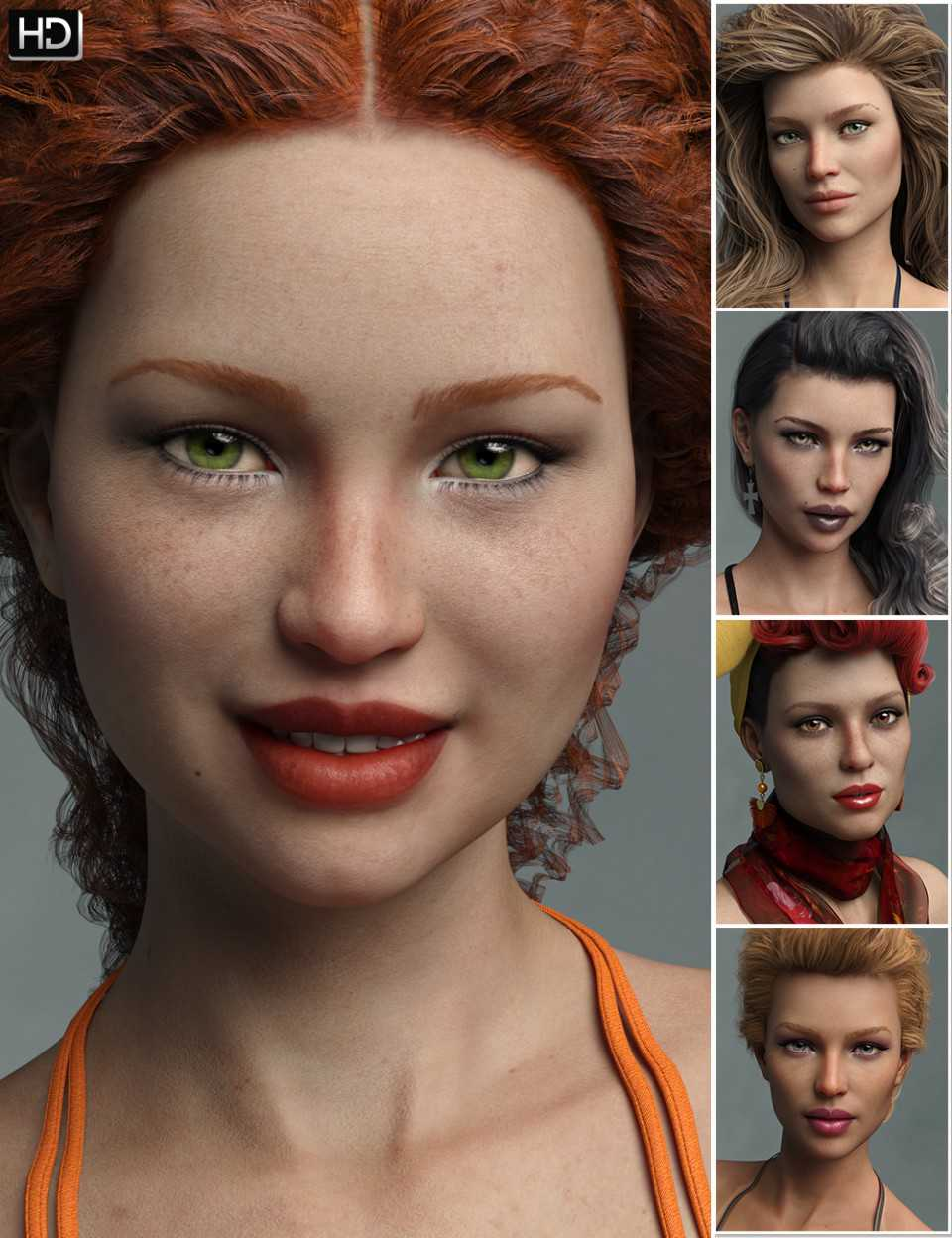 Variety HD Character Morphs for Genesis 8 Female