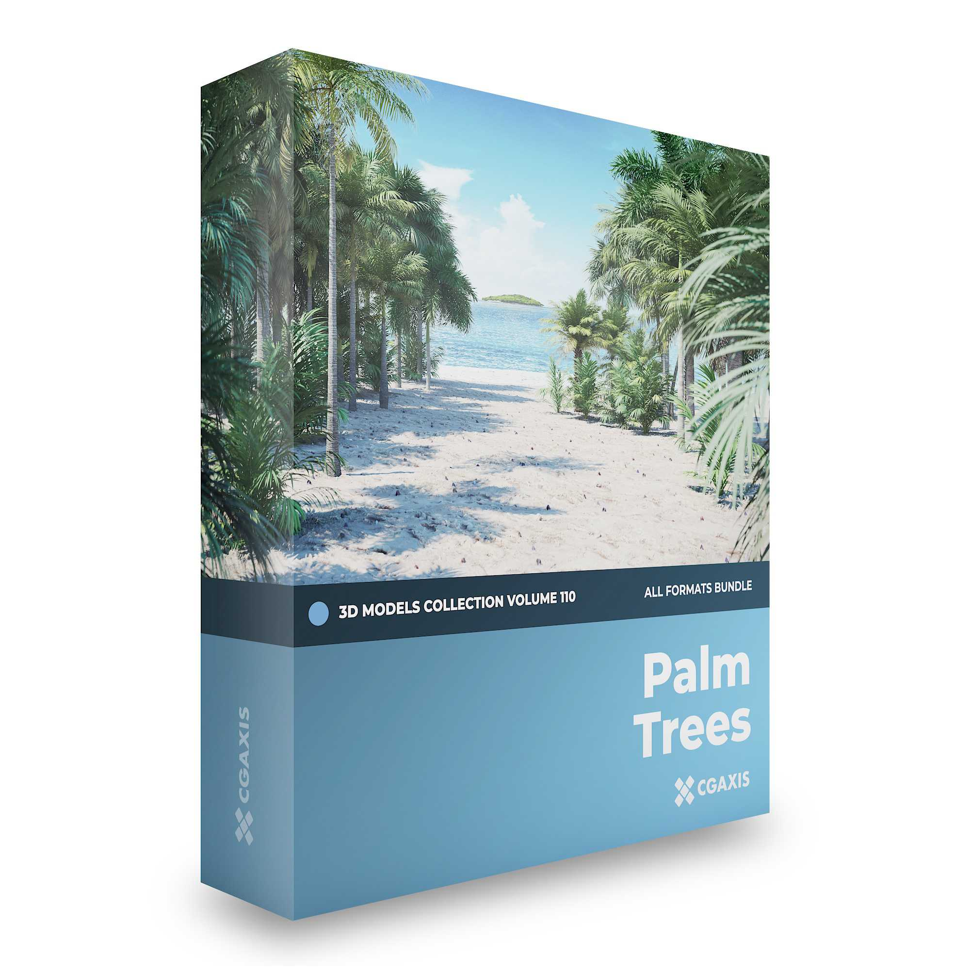 CGAxis Palm Trees 3D Models Collection – Volume 110