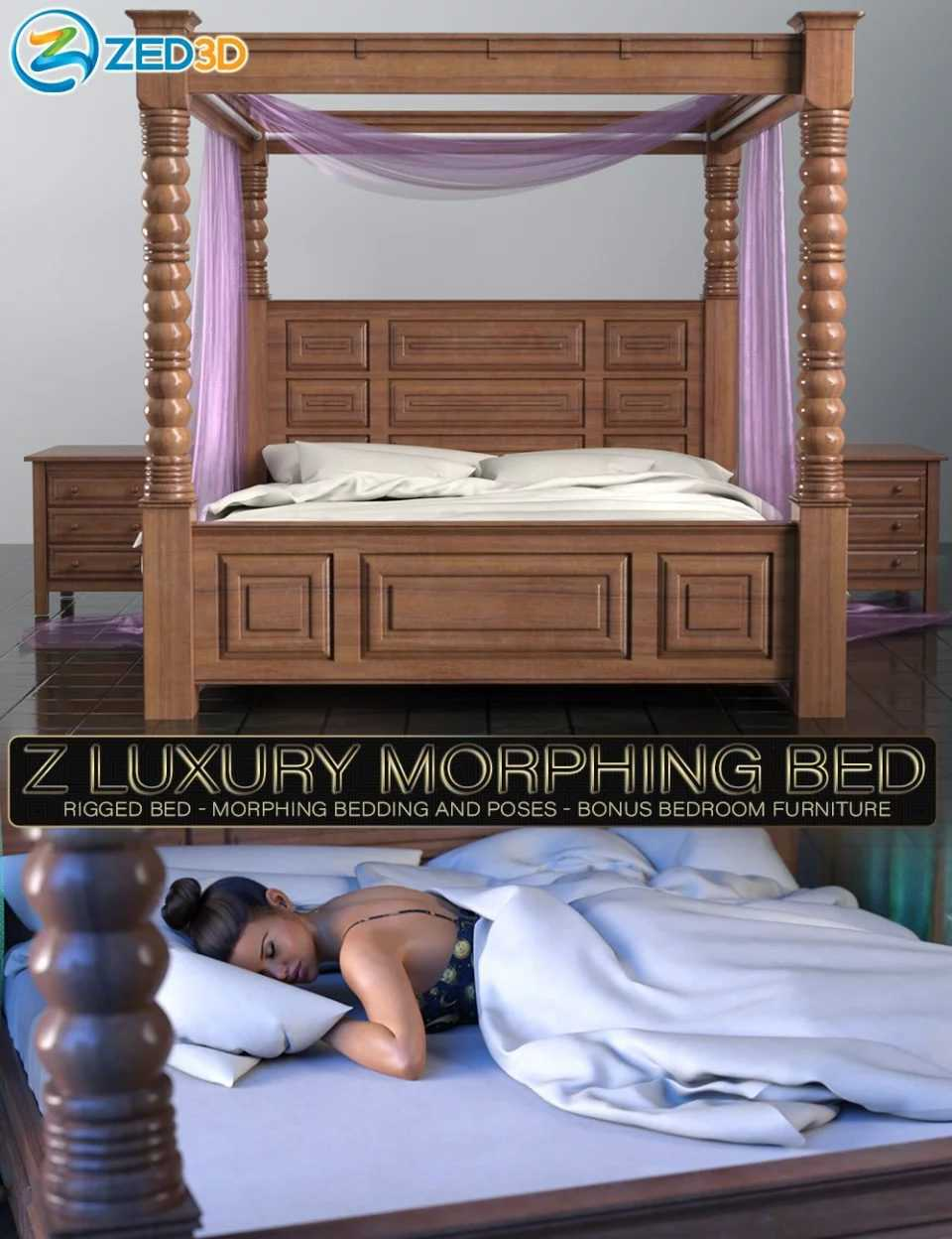Z Luxury Morphing Bed and Poses