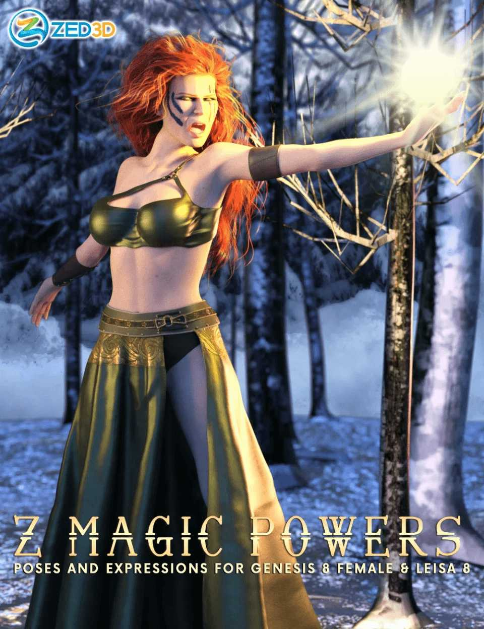 Z Magic Powers Poses and Expressions for Leisa 8